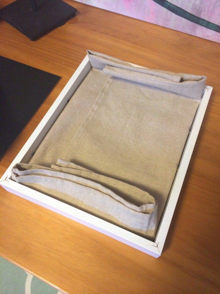 framed kitchen towel art