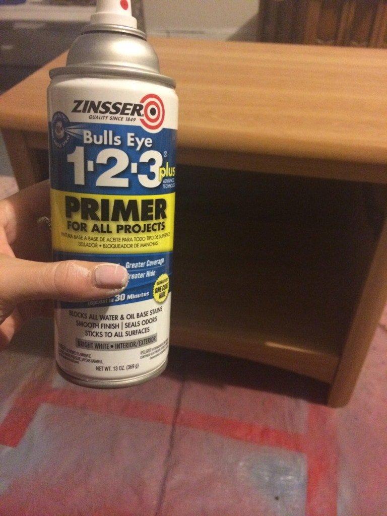chalk paint nightstand