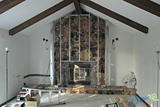 Updating a 1970's Fireplace - Sypsie Designs