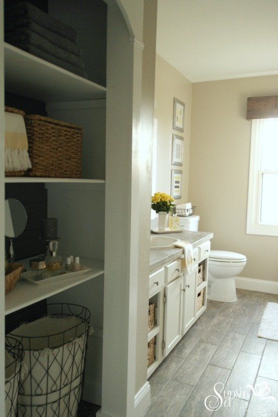 Builder Grade to Budget Custom Bathroom Makeover - Sypsie Designs