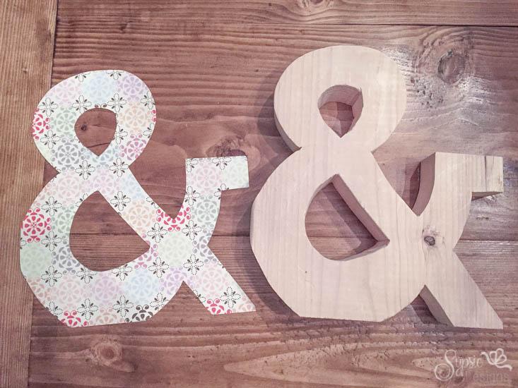 Easy Valentines Wood Ampersand DIY - Sypsie Designs