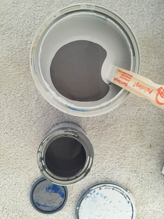 ORC Guest Bedroom Makeover Week 2 - Mixing your own paint colors - Sypsie Designs
