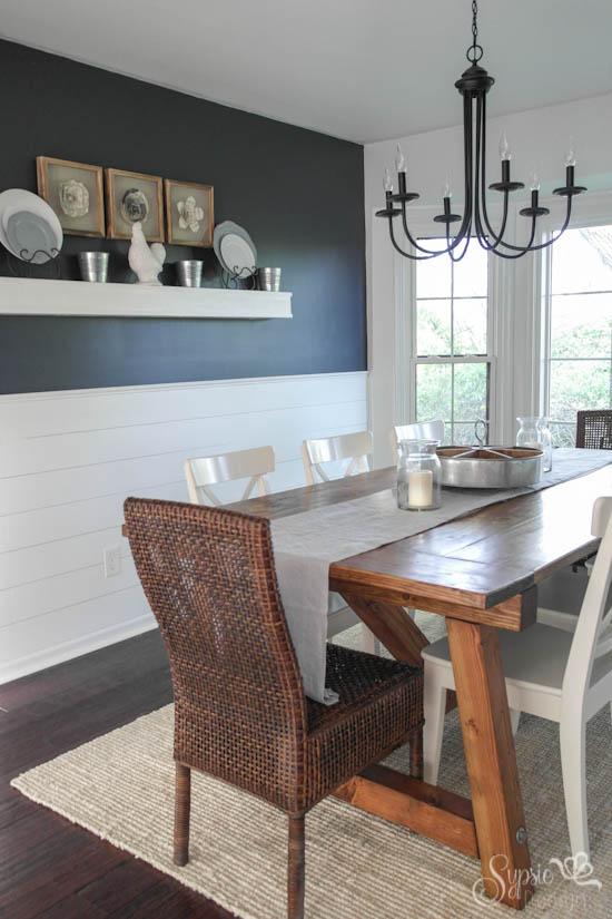 Dining Room Reveal & DIY Farmhouse Table - Sypsie Designs