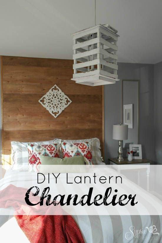 DIY Inexpensive Lantern Chandelier - Sypsie.com