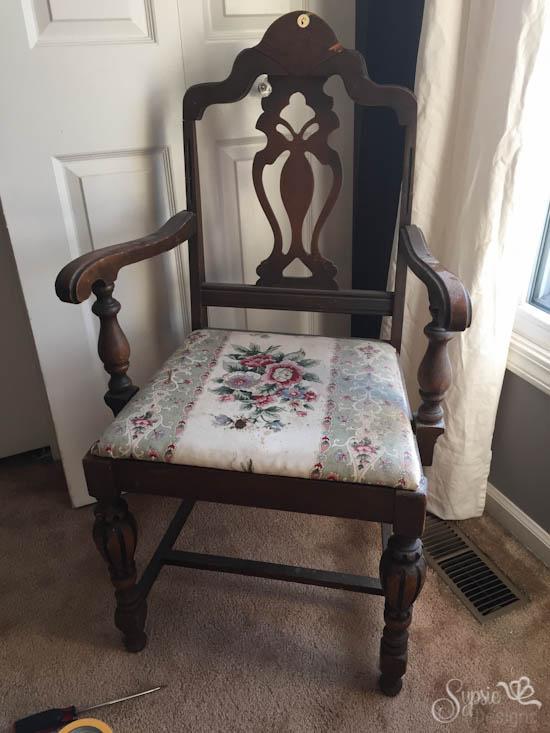 $5 Yard Sale Chair Makeover - Sypsie.com