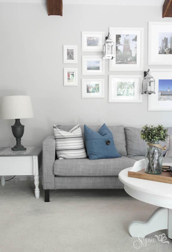 IKEA Karlstad Sectional with Easy Custom Legs - Sypsie.com