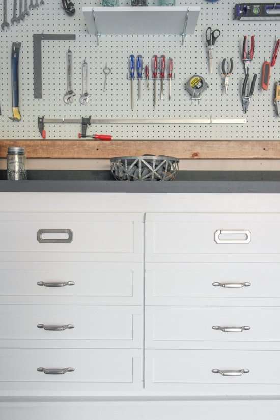 Garage Workbench Makeover - One Room Challenge - Sypsie.com