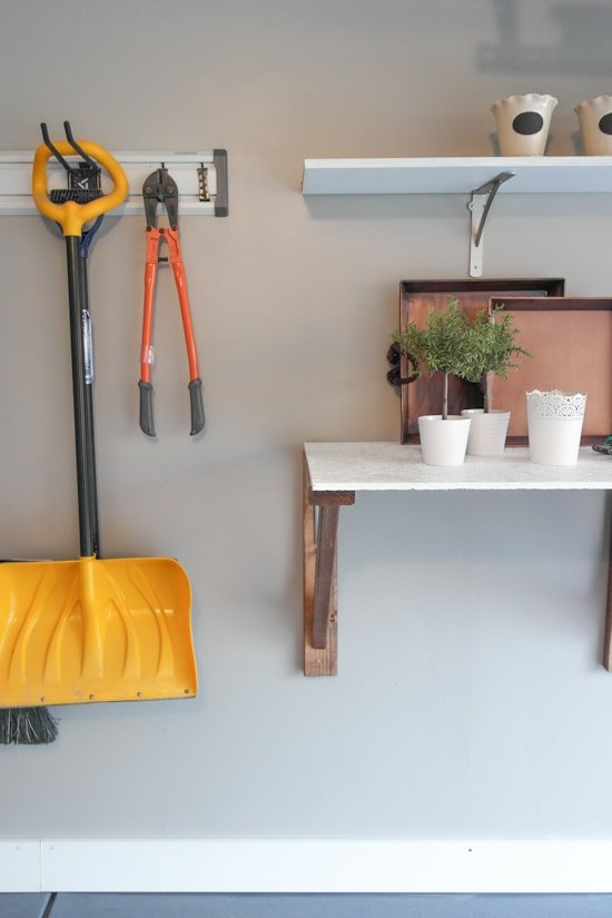 Garage Potting Bench Makeover - One Room Challenge - Sypsie.com