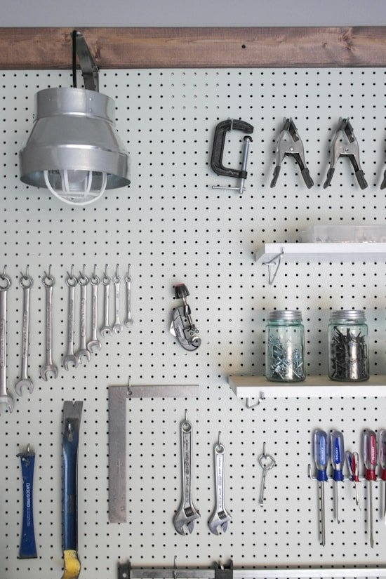 Garage Pegboard Makeover - One Room Challenge - Sypsie.com