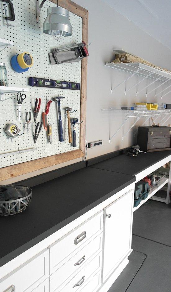 Garage Workbench Makeover - One Room Challenge - Sypsie.com