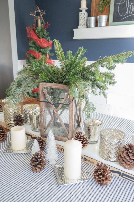 Holiday Center Piece Idea - Hockey Stick Sled - Sypsie.com