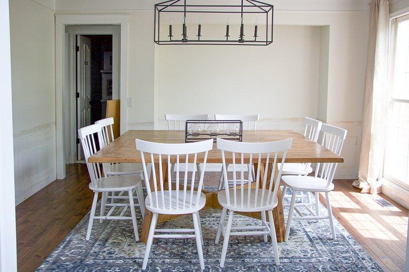 DIY Square Farmhouse Dining Table - Sypsie.com