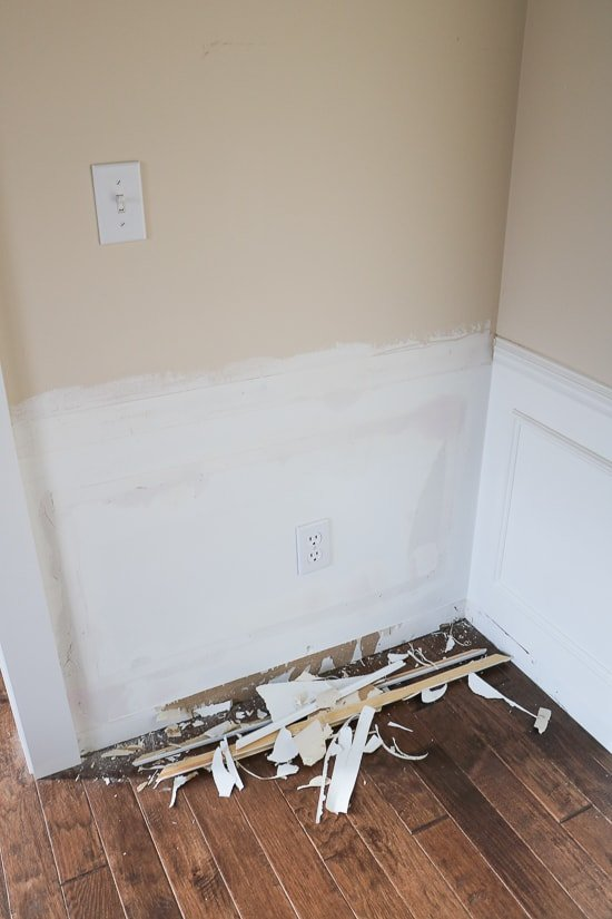 Dining Updates - Removing Old Picture Frame Wainscoting - Sypsie.com