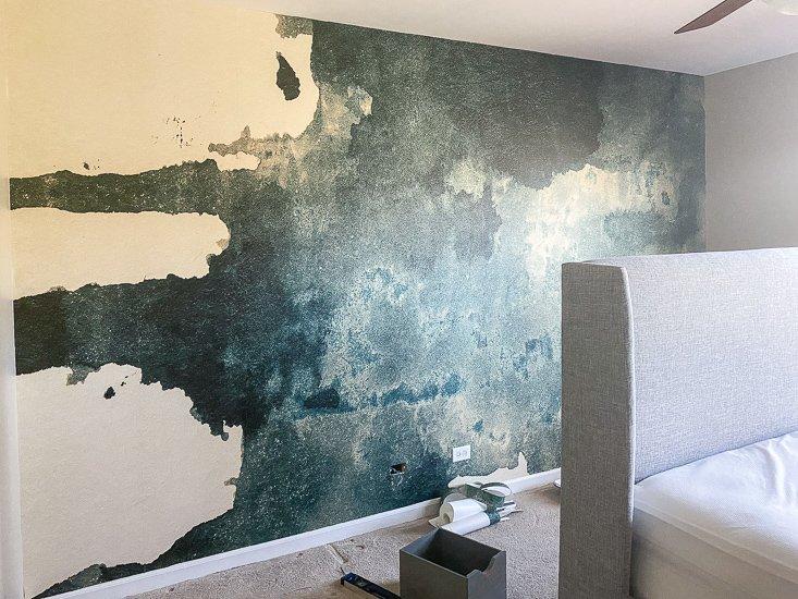 Guest Bedroom Update with Mural Wallpaper Accent - Sypsie.com